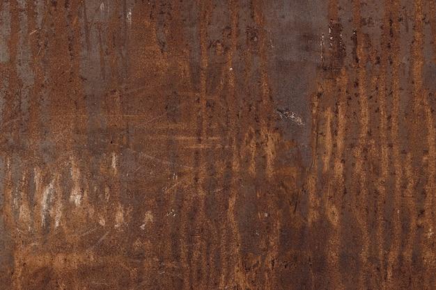 오래 된 녹슨 금속 벽 패널, 배경에 대 한 철 녹 텍스처.