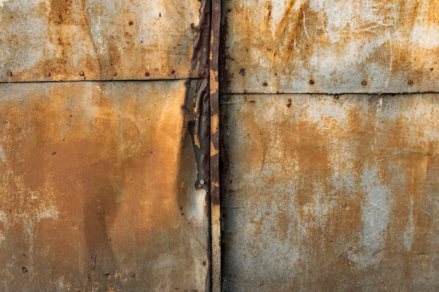 Old rusty metallic background