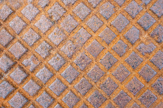 Old rusty metallic surface close-up