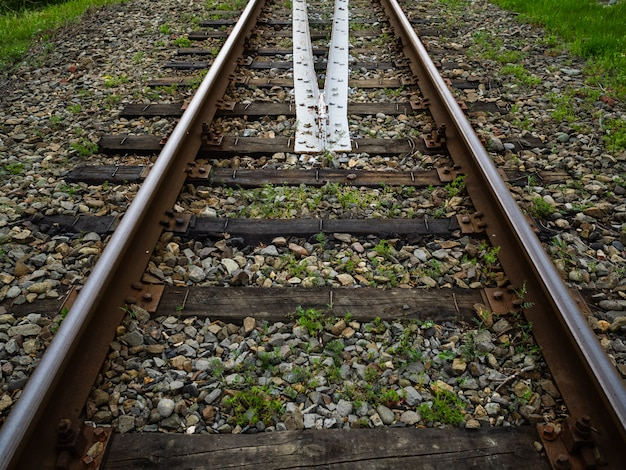 Old rusty railroad. railway industry and transport infrastructure