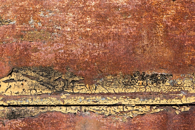 Old rusty and scratched brown steel texture