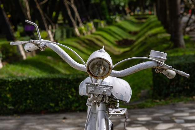 Old rusty vintage bicycle.