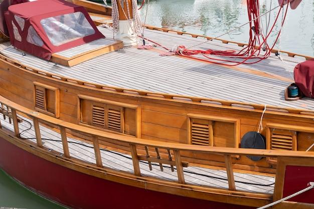 Old sailing wood ship vessel