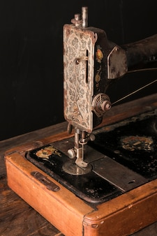 Old sewing machine in workshop