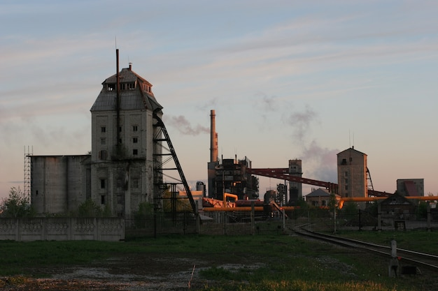 Old shale processing plant