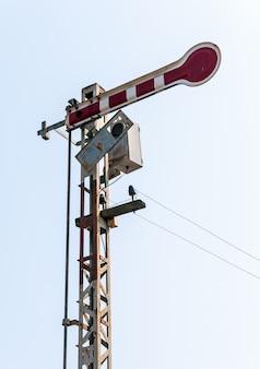 Old signal pole