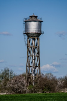 Old small town water tower