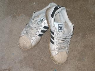 Old sneakers, footware