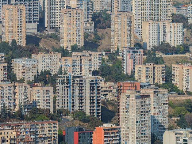 古いソビエトの建物古い都市の住宅ソビエト市区ソ連の建築