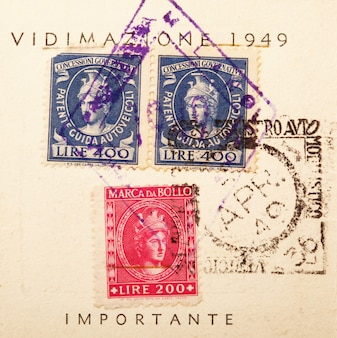 Old stamps and postal stamps