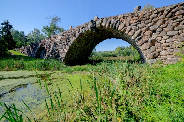 Old stone bridge over the river.