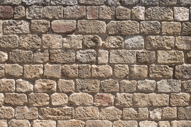 The old stone castle wall background. castle of loarre,aragon, spain