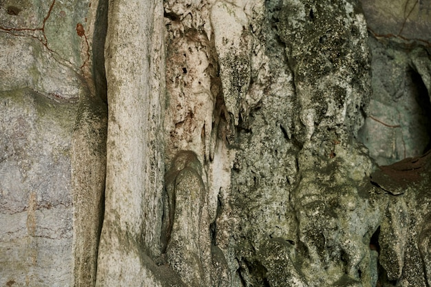 Old stone cave. nature stone wall texture
