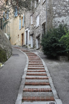 Old stone staircase in a small village