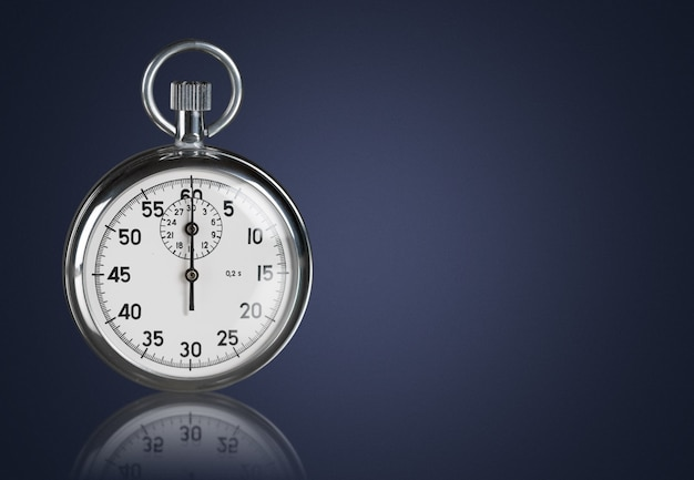 Old stopwatch isolated on  background