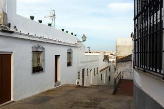 Old street in european city. arcos de la frontera