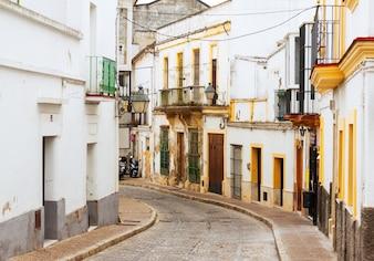 Old street in  jerez de la frontera, spain