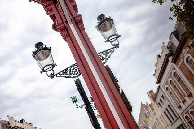 Old street lamp closeup