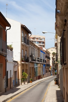 Old street in spanish city. alicante