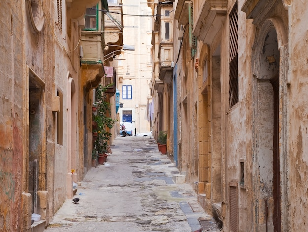 Old street of valletta