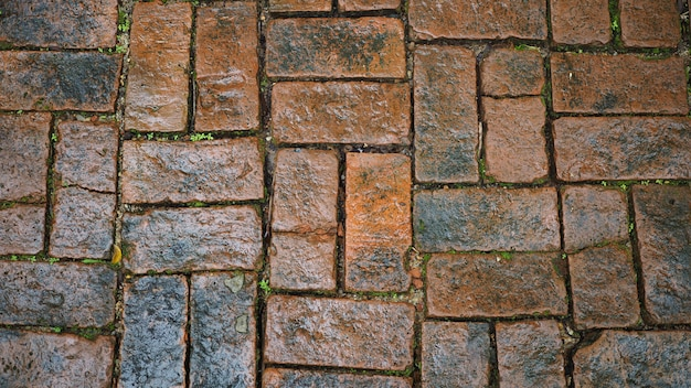 Old style brick wall background.