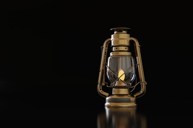 Old style lantern with background