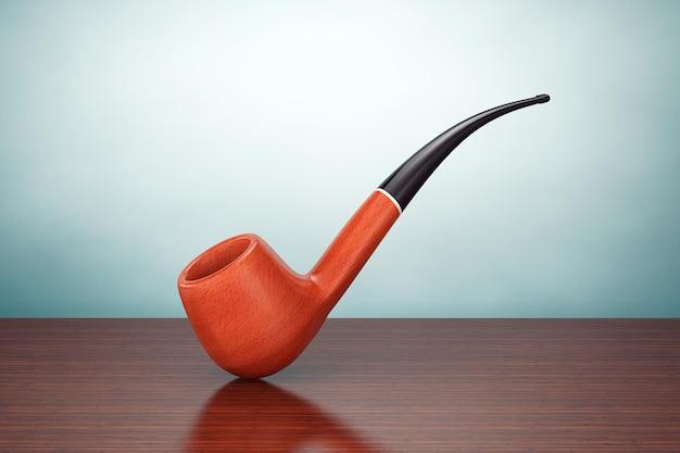 올드 스타일 사진. 테이블에 빈티지 흡연 담배 파이프