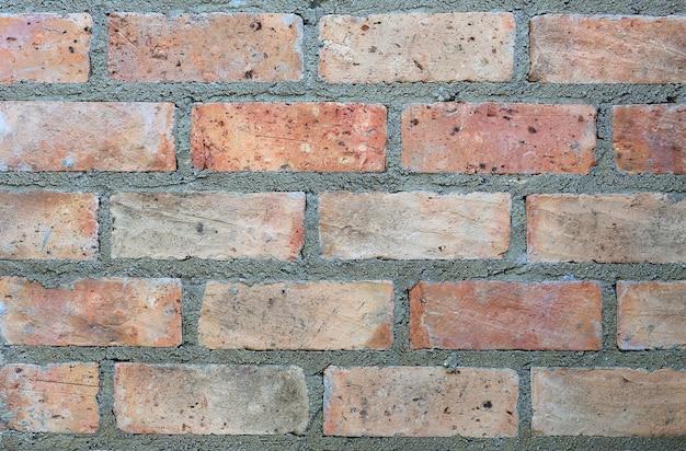 古いスタイル赤レンガの壁の背景