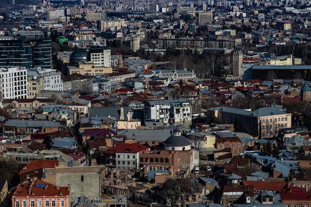 Старый тбилиси и центр города в весеннее время
