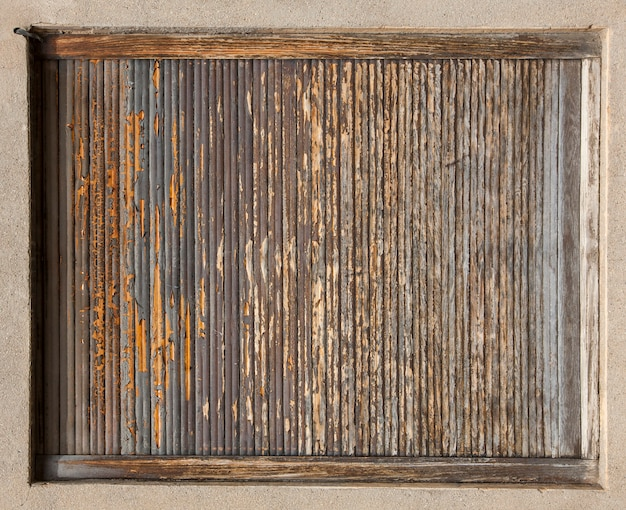 The old  texture painted wooden boards.
