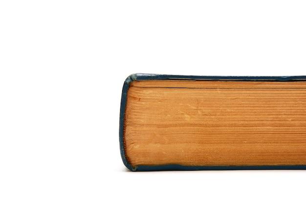 흰색 바탕에 오래 된 두꺼운 책