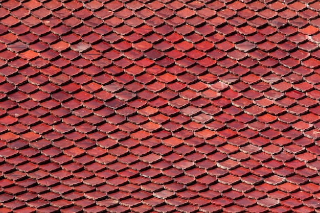 Old tiles roof background
