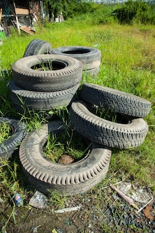 Old tires.