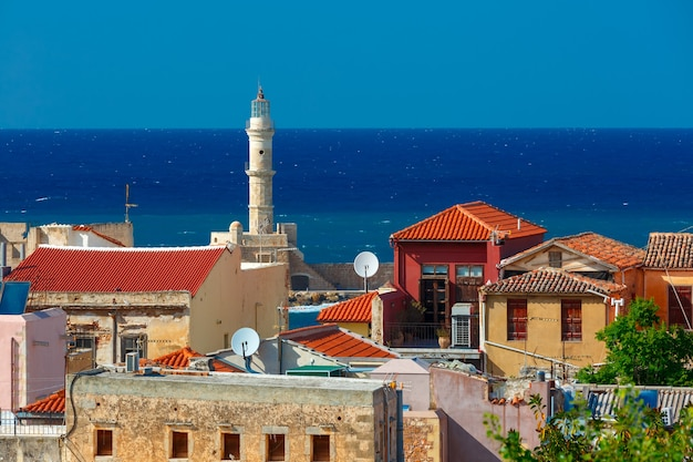 Old town of chania, crete, greece