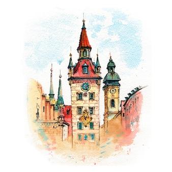 ドイツ、ミュンヘンの旧市庁舎