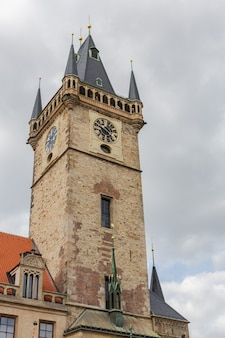 The old town hall in old town square in prague, czech republic
