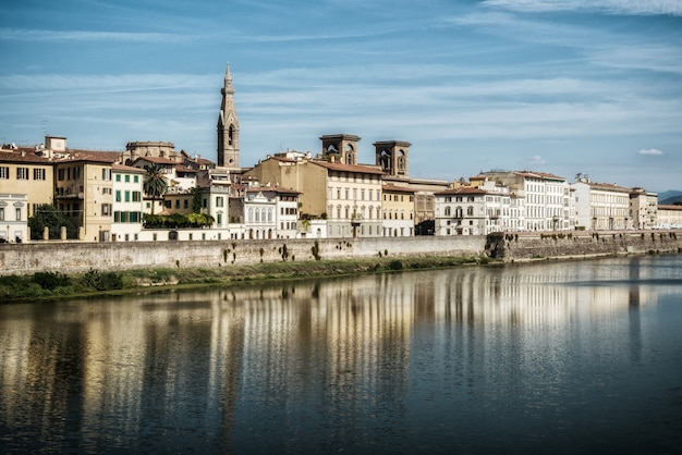 Старый город флоренции - италия