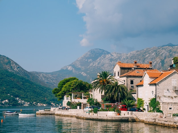 The old town of perast on the shore of kotor bay montenegro th