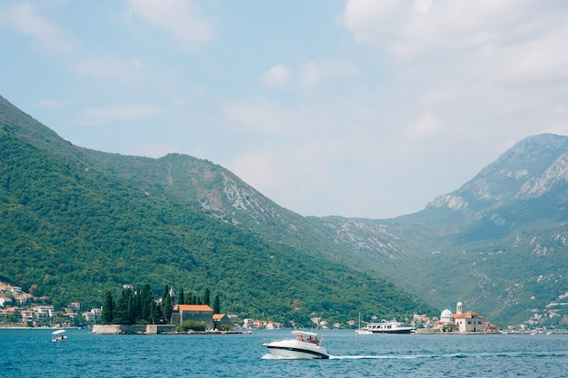 The old town of perast on the shore of kotor bay montenegro