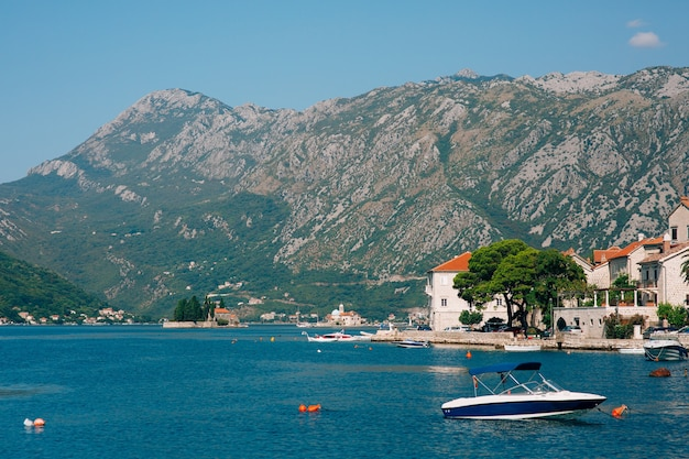 The old town of perast on the shore of kotor bay