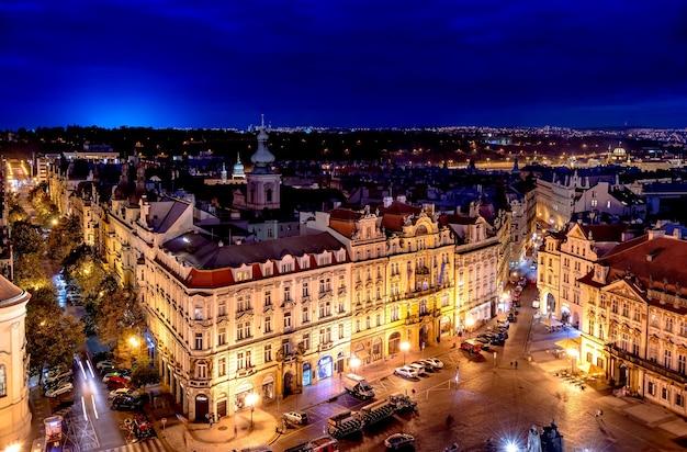 황혼의 구시가지 광장. 프라하, 체코