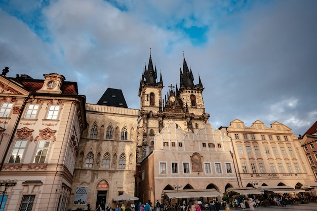 Old town square is the heart of the czech city of prague