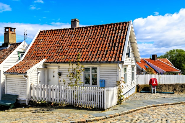 Old traditional wooden house, norway