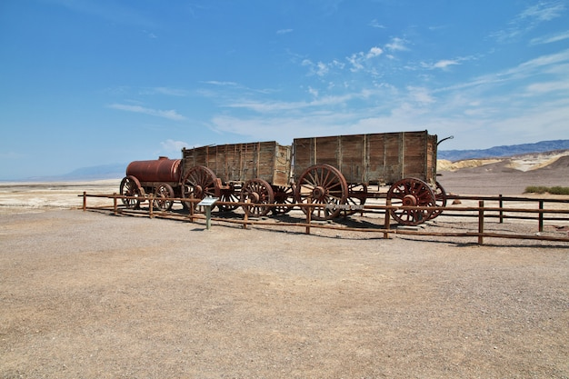 The old train in death valley in california, usa