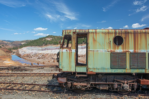 Old train, mines de riotinto, huelva, spain