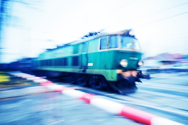 Old train in motion