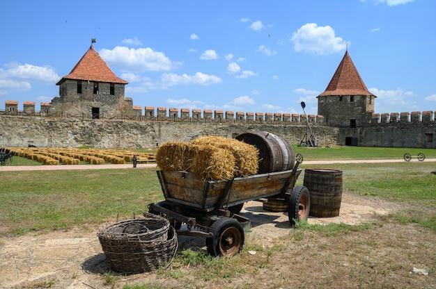 Изгиб старой турецкой крепости в тигине приднестровье, молдова