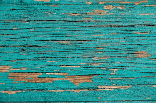 Old turquoise wooden background