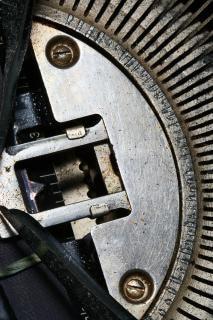 Old typewriter hub