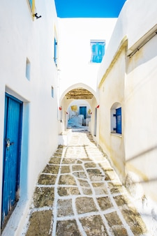 Old typical greek lane in lefkes